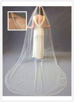 1T Blanc / Ivoire 3m Cathédrale de cristal accessoires de mariée Veils voile + peigne