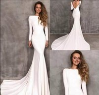 Vintage Berta Mermaid Wedding Dresses With Long Sleeves bate...
