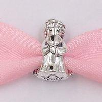 Auténticas 925 cuentas de plata esterlina Angel of Love Charm Charms Fits European Pandora Style Jewelry Pulseras Collar 798413c00