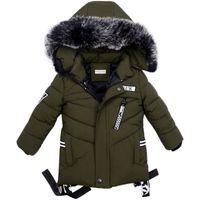 Meninos do bebê Casaco Outono Inverno Jaqueta Para Meninos Crianças Crianças Casaco Com Capuz Quente Outerwear Para O Menino Roupas 2 3 4 5 Ano