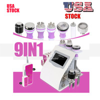 Stock in US 9 in 1 cavitation slimming machine 5mw laser vac...