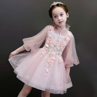 Children' s princess dress birthday dress small host pia...
