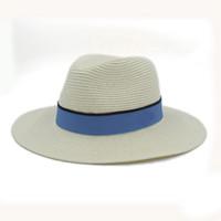패션 여성 여름 넓은 짚으로 메이슨 미쉘 태양 모자 여성 넓은 두꺼운 페도라 해변 해변 Sunhat 파나마 모자 갱스 터 모자