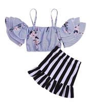 Toddler Girls Clothes Set Summer Baby Kids Outfit Off Should...