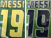 чеканка наклейки 2005 2006 ретро дома печати nameset # 19 Messi футболист впечатлили футбольные письма напечатаны старинные пластиковые значки