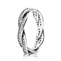 Womens 925 Sterling Silver CZ Diamond RING Set Original Box ...