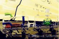 Kleiner Zug Shisha Großhandel Glasbongs Ölbrenner Glaswasserpfeifen Bohrinseln Raucher Kostenlose