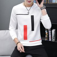 stampata a maniche lunghe T-shirt girocollo adolescente top bottom abbigliamento maschile moda casual maschile primavera e autunno Nuove