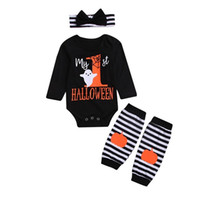 2019 Newborn Baby Girls Outfits Pumpkin Romper + Legging War...