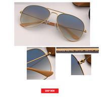 2019 خمر مصمم العلامة التجارية الطيران كلاسيكي نظارات المرأة / الرجل نظارات شارع أفضل نوعية gafas مرآة rd3025 Oculos دي سول UV400