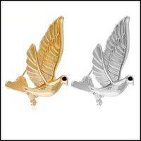 Charms oiseaux pendentif antique couleur rétro Pigeon Dove Résultats Fournitures Broche deux couleurs