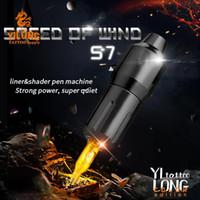 Yilong Style Pen court Rotary Machine de tatouage Coreless moteur DC Connected 3,5 pouces Longueur