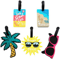 Carino dei bagagli Tag Summer Beach Bag Tags Etichette da viaggio uniche Tag Valigia Etichette identificative per le donne Uomini, Set di 5