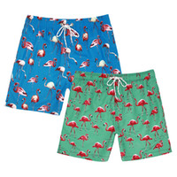 Fashion Mens Shorts Surf Board Shorts Summer Flamingo print ...