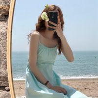 2020 New Arrivals Summer Korean Chic Dress Femme Retro Stylish Elastic Lace-up Women's Suspender Dress Casual Lady Vestidos
