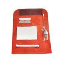 Leder Tabakbeutel Tasche + Snuff Dosierer Kugel Werkzeug Sniffer Straw Hooter Hoover-Beutel-Beutel-Rohr-rauchender Satz Installationssatz-Kasten