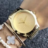 Brand Watch de pulso de quartzo para mulheres Menina com banda de aço de metal Relógios G59