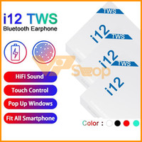 i12 Stereo TWS sem fio Bluetooth Headphones Ture Fones Touch Control colorido Wireless Headset Earbuds PK i30 i60 H1 Chip