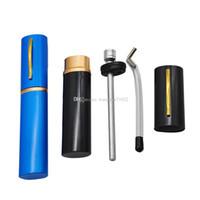최신 여행 금속 담배 물 파이프 고품질 알루미늄 protable 펜 스타일 물 봉 담배 흡연 파이프