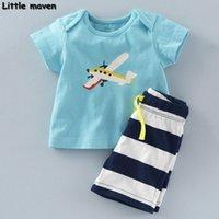 Kleine Maven Marke Kinder Kleidung 2020 neue Sommerbabykleidung Baumwolle Ebene Druck Kinder Sets 20082