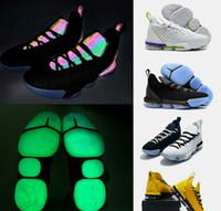 best sneakers e1b35 1bb3b Hommes lebron 16 chaussures de basket Multi couleur Fruity Pebbles Or Noir  Violet Leopard Rouge Garçons Filles Femmes Jeunes Enfants Baskets Bottes
