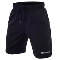 CHAMSGEND men' s casual black beach pocket shorts quick-...