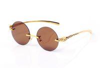luxury designer sunglasses for men women buffalo horn glasses silver gold leopard frame rimless women sun glasses black gray brown clear
