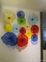 مخصصة لوحات اللون جدار مزين الزجاج، اليد في مهب مخصص إيطاليا مصمم زجاج مورانو جدار الفن لوحة الإضاءة، لوحات الجدار الشمعدان