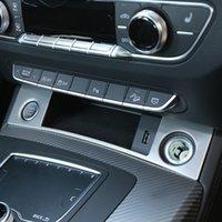 Cigarette Briquets paillettes décoration Stickers Car Styling Pour Audi Q5 FY 2018 2019 LHD Intérieur En Acier Inoxydable Accessoires