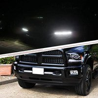 2PCS السيارات كوب تشغيل أضواء النهار DRL LED شرائط COB الضباب الخفيف لتعليم قيادة السيارات مصباح 17CM