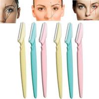 6pcs sobrancelha faca Mulheres Maquiagem Facial Ferramenta lábio sobrancelha Navalha Trimmer Lâmina Shaver faca ferramenta de beleza Kit