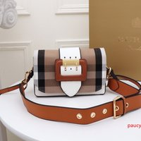 New Brand womens handbag letter shoulder bag high quality genuine leather Messenger bag luxury saddle bag W19.5x5x12cm