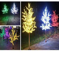 LED Artificial Cherry Blossom Tree Light Christmas Light 1536pcs LED Bulbs 2.5m  Height 110 220VAC Rainproof Outdoor Use Free Shipping