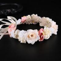 Garland Kronen-Stirnband Blumenkranz-Haarreif Braut Hochzeit Girlanden Mädchen Prinzessin Blumen Kränze Hochzeit Blumen LXL350-A