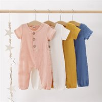 INS Infant Baby Girls Overalls Romper Summer Front Wood Butt...