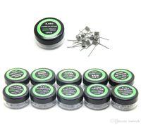 Bobines pré-construites 9 types de câbles de résistance au chauffage Alien Fused Clapton mélange plat Twisted Hive Quad Tiger mods Vapor RDA tête de bobine