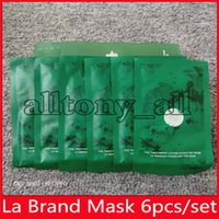 드롭 배송 핫 유명한 라 브랜드 페이스 수리 치료 로션 하이 드레이팅 6 조각 얼굴 마스크 키트 마스크 마스크