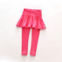 2019 nueva venta bebé niño pantalón falda pantalones Culotte pantalones Legging niña lana niños vestido