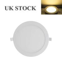 GB-Lager Ultra Slim runde LED-Deckenleuchte 18W 24W Panel-Erröten-Einfassung Strahler Fixture Natur-Weiß für Küche Wohnzimmer Home Use