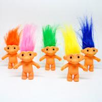 Hint saç erkek çirkin bebek vinil bebek retro troll doll 80 6 cm sonra yüksek uzun saç sihirli saç