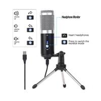 Micro condensateur pour USB Ordinateur PC Plug + Trépied Microfone YouTube Enregistrement Diffusion Karaoke Mic
