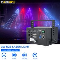 Bühnenlaserlicht 2W RGB 3in1 Bühnenbeleuchtung Laserprojektor DJ Light DMX Portable DMX ILDA Control Disco Laser