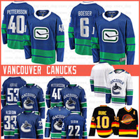 10 Pavel Bure 2020 Vancouver 22 Daniel Sedin Canucks Hockey Jerseys 33 Henrik Sedin 53 Bo Horvat 6 Brock Boeser Elias Pettersson Trikots