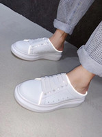 2019 Designer Brand OVERSIZED SNEAKER features large flat la...