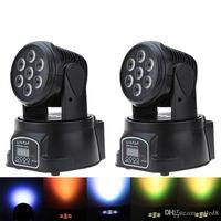 RGBW LED-Stadiums-Licht 9/14 Kanal Party Disco anzeigen 100W AC 100-240V Musiksteuerungs- Weihnachtsdeko DMX-512 Mini Moving Head