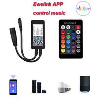 WiFi беспроводной светодиодный смарт-контроллер DC5-24V RGB музыкальный контроллер Android IOS приложение для 3528 5050 светодиодные полосы света с 24 ключами дистанционного управления