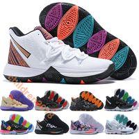 Кирие 5 Детская обувь Irving Баскетбол обувь дизайнер Тренеры BHM 2019 Black Magic Taco Неон бленды Большие Мальчики Детская обувь Размер 32-39
