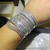 Choucong Super Shinning Jewelry di lusso 7 style 925 sterling silver full bianco topazio cz diamante pistone pietre da polso donne braccialetto braccialetto regalo