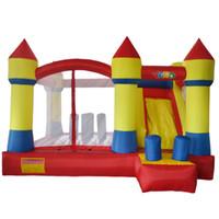Em estoque indoor jogos ao ar livre inflável bouncer slide residencial quintal saltar castelo de salto com soprador livre