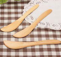 cuchillo de queso de madera natural NUEVA Llegada de madera mantequilla pan espátula verde y cuchillo de mantequilla protección del medio ambiente